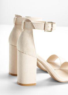 Sandalett nude - RAINBOW kjøp online - bonprix.no Nudes, Boxer, Heeled Mules, Heels, Rainbow, Outfit, Wedding, Fashion, Heel