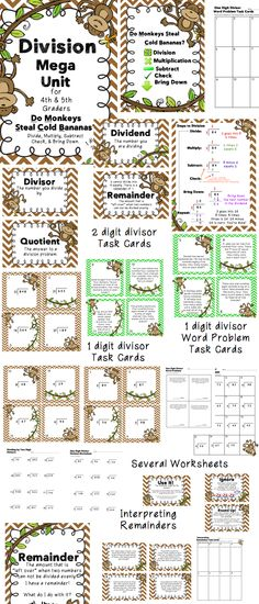 Division worksheet - Printable Mystery Math Division Tutor ...