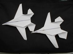 ORIGAMI AIRPLANE | how to make a cool paper airplane F-14 Tomcat - YouTube