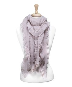 Take a look at this Beige Ruffle Scarf by Tickled Pink on #zulily today!