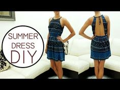 Jazz Ro DIY: Backless dress DIY || Vestido con escote en espalda DIY