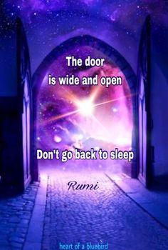 Don't go back to sleep.