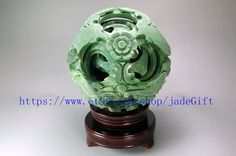 Free Shipping  jade gift  6 1/4 Hand carved Natural by jadeGift, $120.00