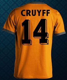 Johan Cruyff 14 Retro Dutch Holland Netherlands by FootballRetro