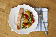 Lachs und grüner Spargel aus dem Ofen - Mein Kleiner Gourmet