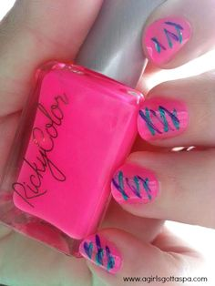 Easy Nail Art How To #nailart