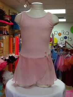 Tank Leo with Skirt by Body Wrappers: $21.99. Available in Child Small, 6x-7, Child Medium, and Child Large. For more information or to check availability, call or email Polka Dots. 916-791-4496. polkadotsproshop@gmail.com