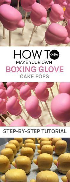 Step into the ring with these easy to make boxing glove cake pops.