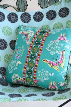 Amy Butler's Alchemy Fabrics with ribbons from Renaissance Ribbons