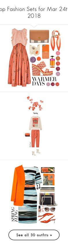 """""""Top Fashion Sets for Mar 24th, 2018"""" by polyvore ❤ liked on Polyvore featuring Tory Burch, FOSSIL, Balenciaga, Alexis Bittar, Prada, Clinique, Gucci, MANGO, Chloé and Marni"""