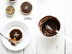 Walnut, caramel and chocolate ganache tartelettes