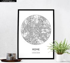Hey, I found this really awesome Etsy listing at https://www.etsy.com/listing/257795848/rome-map-print-city-map-art-of-rome