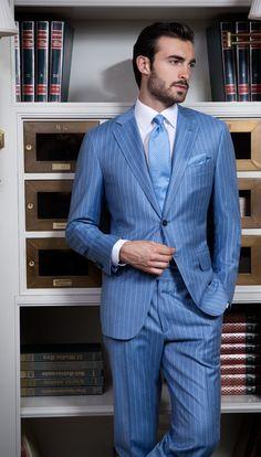 UOMO COLLEZIONI / Blue Pinstripe Suit
