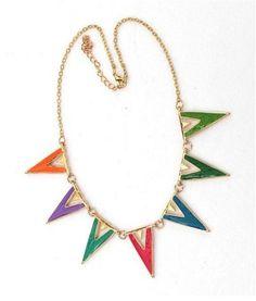 colar multicolor
