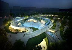 Magok Central Plaza Winning Proposal / Wooridongin Architects