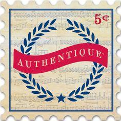 "Authentique Paper ""Glory"" Badge"