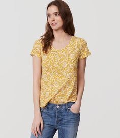 $29.50  Spice up your wardrobe with a printed soft cotton t-shirt