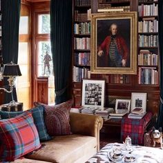 ~Ralph Lauren's Chic Homes and Office : Architectural Digest - Bedford Library: Architectural Digest