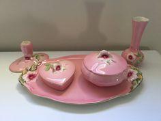 Royal Winton Petunia Dressing Table Set - $100