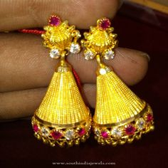 22K Gold Traditional Gold Jhumka Designs