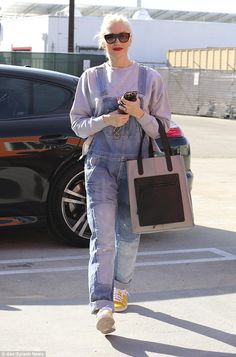 Off to work: Gwen Stefani was seen heading inside a dance studio in Los Angeles on Sunday