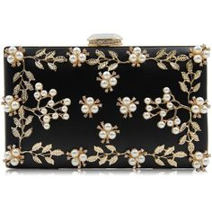 Milisente Women Clutches Purses Bags Flower Beaded Evening Handbag... (€20) ❤ liked on Polyvore featuring bags, handbags, clutches, man bag, handbags clutches, evening bags, flower clutches and flower handbags