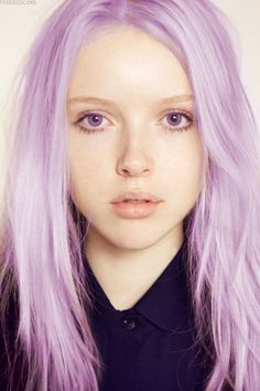 ugh i want lavender hair so bad its such a beautiful color but i just dont think it'd look right on me.