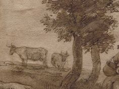 "OSTADE (van) Isaac,1644-49 - Paysage avec Voyageurs (drawing, dessin, disegno-Custodia) - Detail -k - TAGS/ details détail détails detalles ""dessins 17e"" ""17th-century drawings"" ""dessins hollandais"" ""Dutch drawings"" ""Dutch painters"" ""peintres hollandais"" Paris France Holland Hollande animal animaux animals man men hommes paysan dog pet chien Isaack tree trees nature arbres chevaux cheval horse traveller ox boeufs boeuf oxes agriculture countryside campagne landscape Isaack road chemin camino"