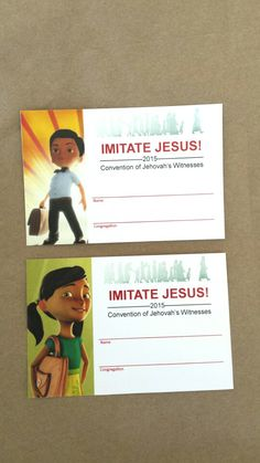Custom badge cards for this year's JW convention. .. cute surprise for the kids