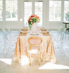 CHOISISSEZ VOTRE TAILLE ! Nappe de paillettes or pour votre mariage et d'événements vintage ! Sparkle personnalisé nappes, nappes, coureurs ...