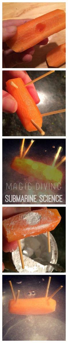WeeWork Kids Craft: Baking Powder Diving Submarine Science