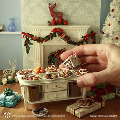 Treats for Santa Dollhouse Miniatures and Accessories