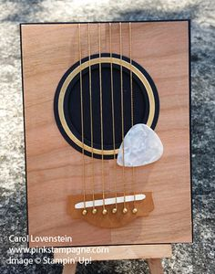 """50th Birthday Guitar Card; Using up some of my """"vintage"""" Stampin' Up! stash; Designed by Carol Lovenstein; Stampin' Up! Card Idea"""