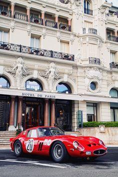 Ferrari 250 GTO in front of Hotel de Paris, Monaco