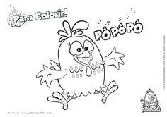 Espaço Educar desenhos para colorir : Muitos desenhos da galinha pintadinha para colorir, pintar, imprimir!