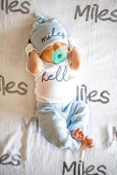 Baby Outfits, New Born Outfits Boy, New Born Clothes, Man Clothes, Newborn Outfits, Dress Clothes, Wiedergeborene Babys, Take Home Outfit, Newborn Coming Home Outfit
