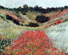 poppy field at giverny, 1885 / claude monet