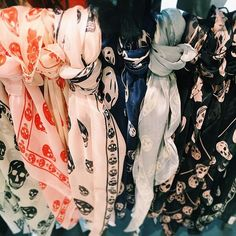 Alexander McQueen 'Skull' Chiffon Scarf   Nordstrom Chiffon Scarf, Silk Chiffon, Gothic Aesthetic, Skull Scarf, Skull Jewelry, Alexander Mcqueen Scarf, Nordstrom, Street Style, Fashion Outfits