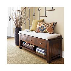Kavari Bench with Cushion--Crate and Barrel