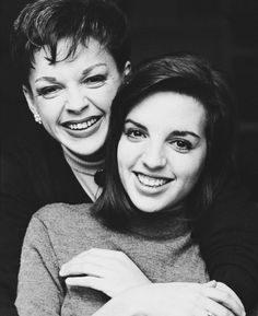 mother and daughter Judy Garland and Liza Minnelli