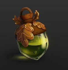 ArtStation - Acon bottle icon, Aleksandra T