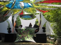 Stretched fabric dj booth