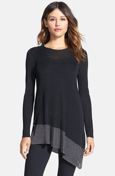 Metallic Border Asymmetrical Tunic