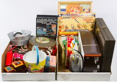 Lot 850: Toy Assortment; Modern, including trains, instruments and tin cans