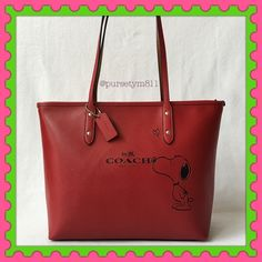 """Authentic Coach Limited Edition Leather Handbag % AUTHENTIC ✨ Beautiful limited edition leather large handbag from Coach  Length 15 1/2"""" Height 10 1/2"""" Width 5 1/4"""" Shoulder strap 10"""" Color: Red w/ silver tone hardware. Zipper top closure . 3 interior pockets. New w/ tag. NO TRADE  FINAL PRICE ‼️ Coach Bags Totes"""