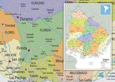 Uruguay Political Map Florida, Wall Maps, Vinyl Banners, Physics, Politics, Paper, Prints, Uruguay, The Florida