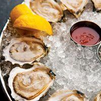 Raw oysters at Island Creek Oyster Bar in Boston, MA