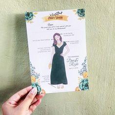 Bridesmaid card ... for creates attire guide dress