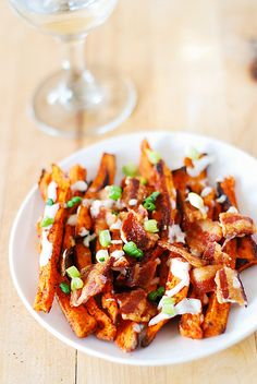 Spiced up sweet potato fries (baked) with bacon by JuliasAlbum.com, via Flickr