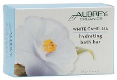 Aubrey Organics - White Camellia Hydrating Bath Bar, 4 oz bar soap by Aubrey Organics. Save 15 Off!. $4.99. Does Not Contain: Synthetic chemicals, animal tallow and animal extracts of any kind.. White Camellia Hydrating Bath Bar by Aubrey Organics 4 oz Bar White Camellia Hydrating Bath Bar 4oz Herbal emollients and skin cleansers come together in this elegant skin-pampering complexion and body bar delicately scented with jasmine oil. FEATURES BENEFITS White Camellia Oil Smoothes moisturiz...